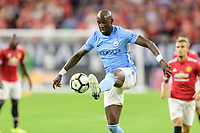 Houston, TX - Thursday July 20, 2017: Eliaquim Mangala during a match between Manchester United and Manchester City in the 2017 International Champions Cup at NRG Stadium.
