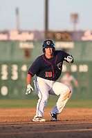 Conrad Gregor #16 of the Lancaster JetHawks runs the bases during a game against the Stockton Ports at The Hanger on June 24, 2014 in Lancaster, California. Stockton defeated Lancaster, 6-4. (Larry Goren/Four Seam Images)