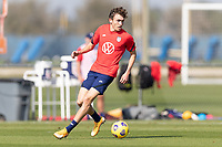 BRADENTON, FL - JANUARY 23: Sam Vines moves with the ball during a training session at IMG Academy on January 23, 2021 in Bradenton, Florida.