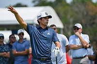 4th July 2021, Detroit, MI, USA;  Joaquin Niemann (CHL) watches his tee shot on 3 during the Rocket Mortgage Classic Rd4 at Detroit Golf Club on July 4,