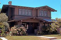 San Diego: Craftsman Style House, Hillcrest. (Taken in 1978.)