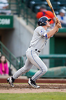 West Michigan Whitecaps outfielder Cam Gibson (23) follows through on his swing against the Fort Wayne TinCaps on May 23, 2016 at Parkview Field in Fort Wayne, Indiana. The TinCaps defeated the Whitecaps 3-0. (Andrew Woolley/Four Seam Images)