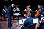 Auditorium Oscar Niemeyer<br /> Conservatorio di Musica 'Niccolò Piccinni' di Bari <br /> <br /> Percussioni in Ensemble<br /> Niccolò Fino, Vincenzo De Leo, Antonella Fazio, percussioni<br /> <br /> Musiche di Veldhuis, Marjàn, Pawassar, Xenakis, Zivkovic<br /> <br /> Ensemble di violoncelli<br /> Direttore e concertatore M° Giuseppe Grassi<br /> Rossana Atzori, Michela Cioce, Federica Del Gaudio, Veronica Iannella, <br /> Maddalena Licinio, Michele Murgolo, Roberta Pastore, Ilenia Piccolo, <br /> Daniele Ranieri, Giulia Salvemini, Marcello Sette, Claudia Speranza, violoncelli <br /> M° Giovanni Rinaldi, contrabbasso<br /> <br /> Musiche di Elgar, Verdi, Mascagni, Granados, van Westerhout, Rota