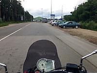 Nesteri, Latvia, 22/07/2013.<br /> Latvia - Russia border crossing.