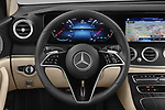 Car pictures of steering wheel view of a 2021 Mercedes Benz E-Class Avantgarde 4 Door Sedan Steering Wheel