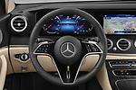 Car pictures of steering wheel view of a 2021 Mercedes Benz E-Class Avantgarde 4 Door Sedan Steering Wheel