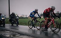 Yves Lampaert (BEL/Quick Step Floors) as part of a 5 man breakaway in teh last part of the race<br /> <br /> 73rd Dwars Door Vlaanderen 2018 (1.UWT)<br /> Roeselare - Waregem (BEL): 180km