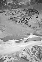 aerial photograph of the Furnace Creek airport, Death Valley National Park, northern Mojave Desert, California