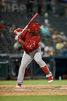 Springfield Cardinals Johan Mieses (41) bats during a Texas League game against the Frisco RoughRiders on May 6, 2019 at Dr Pepper Ballpark in Frisco, Texas.  (Mike Augustin/Four Seam Images)