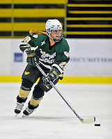 8 November 2008: Wayne State University Warriors' defenseman Natalie Payne, a Senior from Mississauga, Ontario, in action against the University of Vermont Catamounts at Gutterson Fieldhouse, in Burlington, Vermont. The Warriors shut out the Catamounts 7-0...Mandatory Photo Credit: Ed Wolfstein Photo