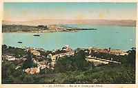 DESTRUCCION A TODA COSTA 2010 (DTC2010) Puerto de Ferrol visto desde A Graña (A Coruña). Aproximación 1930. © Colección personal Pedro Armestre