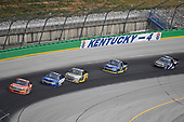 #19: Derek Kraus, McAnally Hilgemann Racing, Toyota Tundra ENEOS, #15: Tanner Gray, DGR-Crosley, Ford F-150 Ford | Ford Performance, #98: Grant Enfinger, ThorSport Racing, Ford F-150 Champion Power Equipment, #38: Todd Gilliland, Front Row Motorsports, Ford F-150 Speedco, #4: Raphael Lessard, Kyle Busch Motorsports, Toyota Tundra SiriusXM