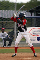 Miguel Munoz Rodriguez participates in the Dominican Prospect League showcase at the New York Yankees academy on September 19,2013 in Boca Chica, Dominican Republic. Munoz subsequently signed a contract with the New York Yankees.