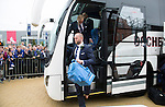 St Johnstone v Dundee United....17.05.14   William Hill Scottish Cup Final<br /> Alan Mannus steps off the coach as it arrives at Parkhead<br /> Picture by Graeme Hart.<br /> Copyright Perthshire Picture Agency<br /> Tel: 01738 623350  Mobile: 07990 594431