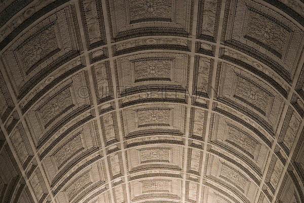 AVAILABLE FROM JEFF FOR EDITORIAL LICENSING.<br /> <br /> Upward View of the Central Arch at New York City's Municipal Building, 1 Centre Street, Civic Center, Lower Manhattan, New York City, New York State, USA