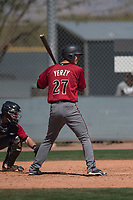 Arizona Diamondbacks catcher Andy Yerzy (27) at bat during a Minor League Spring Training intrasquad game at Salt River Fields at Talking Stick on March 12, 2018 in Scottsdale, Arizona. (Zachary Lucy/Four Seam Images)
