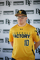 Scott Prieto (10) of Paso Robles High School in Paso Robles, California during the Baseball Factory All-America Pre-Season Tournament, powered by Under Armour, on January 12, 2018 at Sloan Park Complex in Mesa, Arizona.  (Zachary Lucy/Four Seam Images)