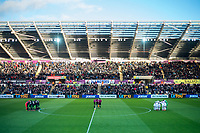King off huddle wide view of stadium <br /> Re: Behind the Scenes Photographs at the Liberty Stadium ahead of and during the Premier League match between Swansea City and Bournemouth at the Liberty Stadium, Swansea, Wales, UK. Saturday 25 November 2017