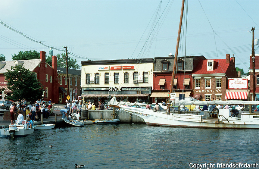 Annapolis:  Harbor, Town Center.  Photo '85.