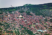 aerial photograph of Granada, Nicaragua, Catedral de Nuestra Señora de la Asunción, Our Lady of the Assumption Cathedral also known as the Granda Cathedral is in the center of the photograph | fotografía aérea de Granada, Nicaragua, la Catedral de Nuestra Señora de la Asunción