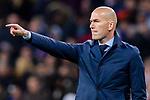 Manager Zinedine Zidane of Real Madrid gestures during the UEFA Champions League 2017-18 quarter-finals (2nd leg) match between Real Madrid and Juventus at Estadio Santiago Bernabeu on 11 April 2018 in Madrid, Spain. Photo by Diego Souto / Power Sport Images