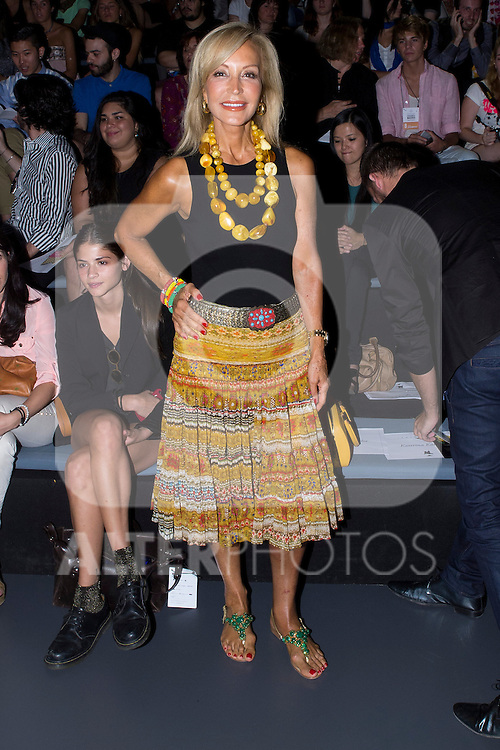 03.09.2012. Celebrities attending the  Leyre Valiente and Eva Soto Conde fashion show during the EGO Mercedes-Benz Fashion Week Madrid Spring/Summer 2013 at Ifema. In the image Carmen Lomana  (Alterphotos/Marta Gonzalez)