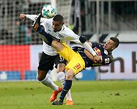 19.02.2018, Commerzbank - Arena, Frankfurt, GER, 1.FBL, Eintracht Frankfurt vs RB Leipzig , <br />Diego Demme (Leipzig), Kevin-Prince Boateng (Frankfurt) *** Local Caption *** © pixathlon