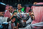 Saudi Arabia vs Japan during their Asian Cup 2000 final match at the Sports City Stadium on 29 October 2000 in Beirut, Lebanon. Photo by Agence SHOT for WSG