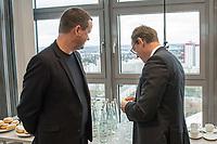 """Pressekonferenz des Regierenden Buergermeisters, Michael Mueller (SPD) und der Buergermeisterin Ramona Pop (Buendnis 90/Die Gruenen) sowie dem Buergermeister Dr. Klaus Lederer (Linkspartei) zum Thema """"Zweieinhalb Jahre Rot-Rot-Gruen"""".<br /> Im Bild vlnr.: Klaus Lederer und Michael Mueller.<br /> 5.3.2019, Berlin<br /> Copyright: Christian-Ditsch.de<br /> [Inhaltsveraendernde Manipulation des Fotos nur nach ausdruecklicher Genehmigung des Fotografen. Vereinbarungen ueber Abtretung von Persoenlichkeitsrechten/Model Release der abgebildeten Person/Personen liegen nicht vor. NO MODEL RELEASE! Nur fuer Redaktionelle Zwecke. Don't publish without copyright Christian-Ditsch.de, Veroeffentlichung nur mit Fotografennennung, sowie gegen Honorar, MwSt. und Beleg. Konto: I N G - D i B a, IBAN DE58500105175400192269, BIC INGDDEFFXXX, Kontakt: post@christian-ditsch.de<br /> Bei der Bearbeitung der Dateiinformationen darf die Urheberkennzeichnung in den EXIF- und  IPTC-Daten nicht entfernt werden, diese sind in digitalen Medien nach §95c UrhG rechtlich geschuetzt. Der Urhebervermerk wird gemaess §13 UrhG verlangt.]"""