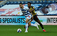 Nathaniel Chalobah of Watford holds back Geoff Cameron of Queens Park Rangers during Queens Park Rangers vs Watford, Sky Bet EFL Championship Football at The Kiyan Prince Foundation Stadium on 21st November 2020