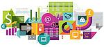 Illustrative image of collage representing E-commerce