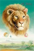 Interlitho, Luis, FANTASY, paintings, lion's head, KL, KL3501,#fantasy# illustrations, pinturas