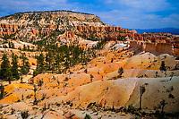 "view on ""hoodoos"" from Fairyland Loop trail, Bryce Canyon National Park, Utah, USA,"