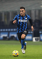 Calcio, Serie A: Inter Milano - Juventus FC , Giuseppe Meazza (San Siro) stadium, in Milan, January 17, 2021.<br /> Inter's Lautaro Martinez in action during the Italian Serie A football match between Inter and juventus at Giuseppe Meazza (San Siro) stadium, January 17,  2021.<br /> UPDATE IMAGES PRESS/Isabella Bonotto