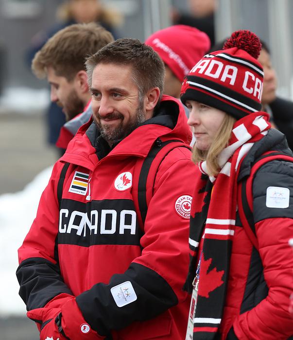 Martin Richard, PyeongChang 2018.<br /> Team Canada Pep Rally and Flag Raising // Équipe Canada Pep Rally et cérémonie de levée de drapeau. 07/03/2018.