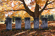 Chester Village Cemetery during the autumn months. Located  in Chester, New Hampshire USA..Notes: The Chester Village Cemetery is listed on the National Register of Historical Places