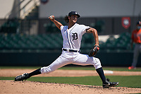 Detroit Tigers pitcher Ruben Garcia (53) during a Minor League Spring Training game against the Baltimore Orioles on April 14, 2021 at Joker Marchant Stadium in Lakeland, Florida.  (Mike Janes/Four Seam Images)