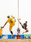 RAOKLANG Alongkon of Thailand Team plays a shot against India during their Beach Sepaktakraw Men's team competition on Day Eight of the 5th Asian Beach Games 2016 at My Khe Beach on 01 October 2016, in Danang, Vietnam. Photo by Marcio Machado / Power Sport Images