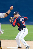 June 1, 2008: Tacoma Rainiers second baseman Tug Hulett turns two during a Pacific Coast League game against the Salt Lake Bees at Cheney Stadium in Tacoma, Washington.
