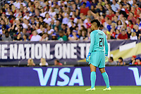 PHILADELPHIA, PA - AUGUST 29: Adrianna Franch #21 of the United States during a game between Portugal and USWNT at Lincoln Financial Field on August 29, 2019 in Philadelphia, PA.