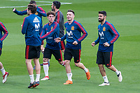 Spain Marcos Alonso, Saul Niguez and Diego Costa during training session the day before Spain and Argentina match at Wanda Metropolitano in Madrid , Spain. March 26, 2018. (ALTERPHOTOS/Borja B.Hojas) /NortePhoto NORTEPHOTOMEXICO
