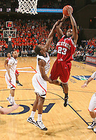 NC State's Tracy Smith_Virginia held North Carolina State scoreless for more than 7 minutes on the way to a 59-47 victory Wednesday night at the John Paul Jones Arena in Charlottesville, VA. Virginia (14-6, 5-2 Atlantic Coast Conference) regained a share of first place in the conference. (Photo/Andrew Shurtleff)....