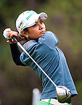 TAOYUAN, TAIWAN - OCTOBER 21: Ai Ai Miyazato of Japan tees off on the 14th hole during day two of the LPGA Imperial Springs Taiwan Championship at Sunrise Golf Course on October 21, 2011 in Taoyuan, Taiwan. (Photo by Victor Fraile/Getty Images)
