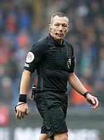 2nd October 2021;  Turf Moor, Burnley, Lancashire, England; Premier League football, Burnley versus Norwich City: referee Kevin Friend