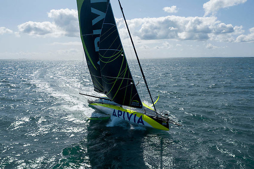 Charlie Dalin, second in the last Vendée Globe aboard Apivia, is competing in the Rolex Fastnet Race | Credit: Maxime Horlaville/Disobey/Apivia