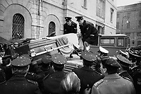 - Milan, funerals of police officers Vittorio Padovani and Sergio Bazzega,  killed in a fire conflict with Walter Alasia, militant of terrorist group Red Brigades (December 1976) ....- Milano, funerali dei funzionari di polizia vice questore Vittorio Padovani e maresciallo Sergio Bazzega, uccisi in un conflitto a fuoco con Walter Alasia, militante del gruppo terrorista Brigate Rosse (dicembre 1976)