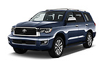 2018 Toyota Sequoia Limited Auto 5 Door SUV angular front stock photos of front three quarter view
