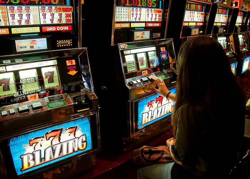 Slot machines.