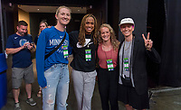 Minneapolis, MN - September 1, 2019:  The USWNT watched the Minnesota Lynx play the Indiana Fever at the Target Center