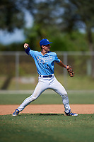 Robert Moore during the WWBA World Championship at the Roger Dean Complex on October 19, 2018 in Jupiter, Florida.  Robert Moore is a shortstop from Leawood, Kansas who attends Shawnee Mission East High School and is committed to Arkansas.  (Mike Janes/Four Seam Images)